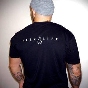 Farm 4 Life Mens Black Tee