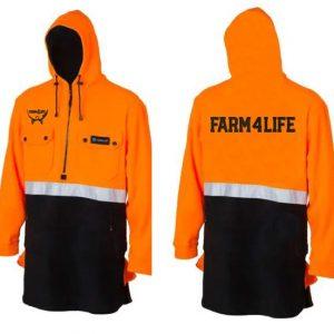 Farm 4 Life Hi Viz Fleece Bush Shirt