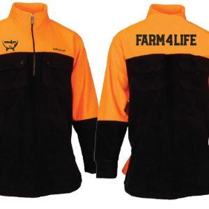 Farm 4 Life Hi Viz Fleece Half Zip